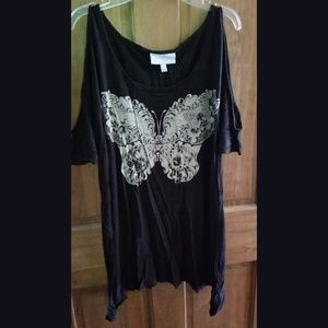 Jessica Simpson cold shoulder butterfly maternity
